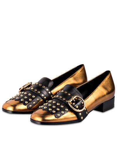 Loafer mit Nietenbesatz - GOLD METALLIC