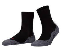 Running-Socken RU4 SHORT - schwarz