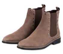 Chelsea-Boots mit Nietenbesatz - TAUPE