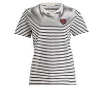 T-Shirt - schwarz/ creme gestreift