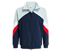 Sweatjacke PALMESTON - navy/ mint/ rot