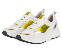 Plateau-Sneaker - WEISS/ GELB