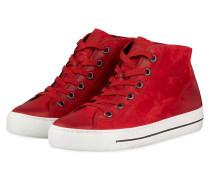 Hightop-Sneaker - DUNKELROT