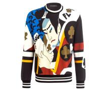 Sweatshirt - schwarz/ weiss/ ocker