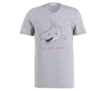 Loungeshirt - hellgrau meliert