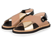 Sandalen - TAUPE/ GOLD