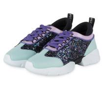 Sneaker mit Glitzer - SCHWARZ/ MINT/ LILA