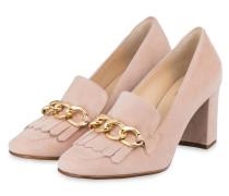 Loafer-Pumps - altrosa