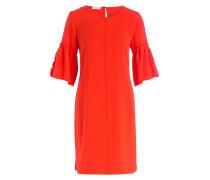 Kleid mit 3/4-Arm - dunkelorange