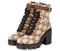 Plateau-Boots - BEIGE/ SCHWARZ
