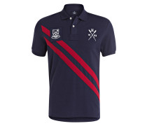 Piqué-Poloshirt Classic-Fit - navy/ rot