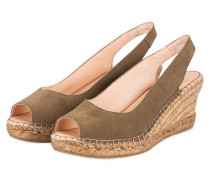 Peeptoe-Wedges - oliv