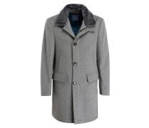Mantel mit abnehmbarem Besatz in Felloptik