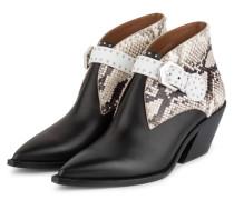 Cowboy Boots - SCHWARZ/ GRAU/ WEISS
