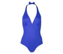 Neckholder-Badeanzug - blau