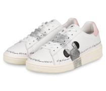 Plateau-Sneaker - WEISS/ SILBER/ SCHWARZ