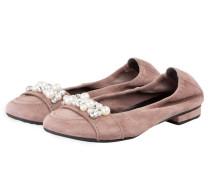 Ballerinas MALU mit Perlenbesatz