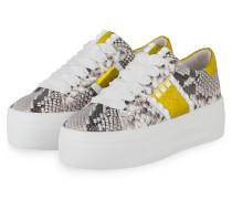 Sneaker TOP - GRAU/ DUNKELGRAU/ GELB