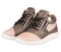 Hightop-Sneaker - HELLBRAUN/ ROSÈ