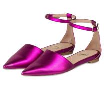 Sling-Ballerinas - pink metallic