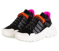 Plateau-Sneaker - SCHWARZ/ ORANGE