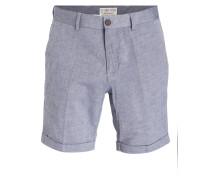 Chino-Shorts - blau/ weiss