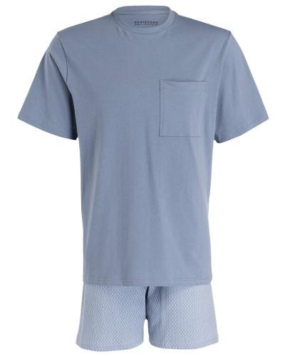 Shorty-Schlafanzug - graublau