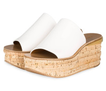 Plateau-Mules - weiss/ gold