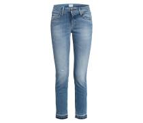 Destroyed Jeans LIU mit Schmucksteinbesatz