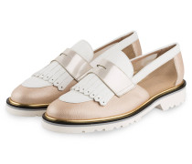 Plateau-Loafer - SAND/ WEISS