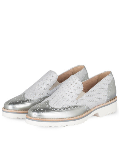 Plateau-Slipper - GRAU METALLIC