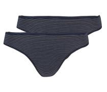 2er-Pack Slips - blau/ weiss streifen