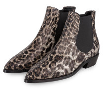 Chelsea-Boots - TAUPE/ CREME/ SCHWARZ