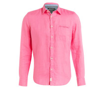 Leinenhemd Shaped-Fit - pink