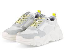 Plateau-Sneaker - WEISS/ GELB/ GRAU