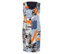 Kleid - blau/ hellgrau/ orange