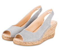 Peeptoe-Wedges - GRAU