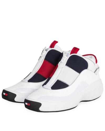 Hightop-Sneaker - WEISS/ BLAU/ ROT