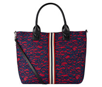 Shopper - navy/ rot
