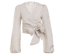 Wickelbluse WRAPPED IN LOVE mit Leinen