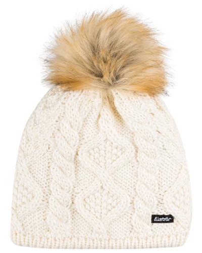 Mütze MIRELLA mit Kunstpelzbommel