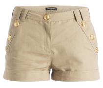 Shorts mit Leinenanteil