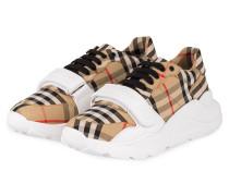 Plateau-Sneaker - BEIGE/ SCHWARZ/ WEISS