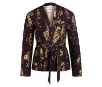 Blazer - gold metallic/ schwarz/ violett