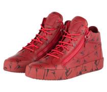 Hightop-Sneaker - ROT/ SCHWARZ
