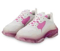 Sneaker TRIPLE S - WEISS/ PINK