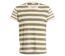 T-Shirt - grün/ ecru gestreift