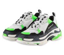Sneaker TRIPLE S - WEISS/ NEONGRÜN
