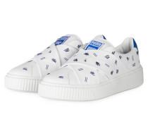 Slip-on-Sneaker PLATFORM - WEISS