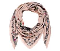 Seidentuch - rosa/ schwarz